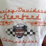 White Harley Davidson Crop Top